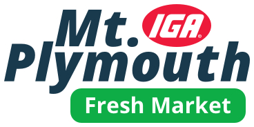 A theme logo of Mt. Plymouth IGA